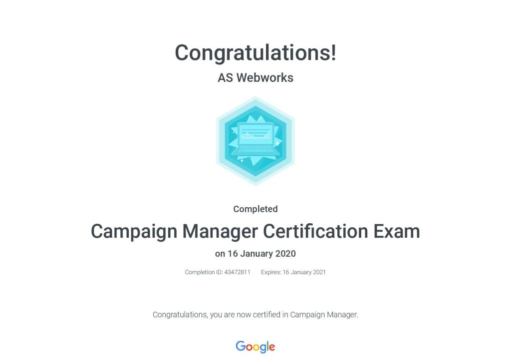 Campaign-Manager-Certification-Exam-_-Google-AS Webworks